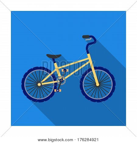 BMX Cyclist Bicyclist Athletes Sportsman. Bike for jumps and athletes.Different Bicycle single icon in flat style vector symbol stock web illustration.
