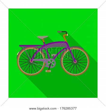 Road bike for walking with a semicircular frame.Different Bicycle single icon in flat style vector symbol stock web illustration.