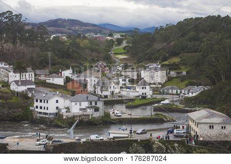 Village of Viavelez located in the west of Asturias