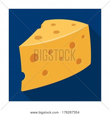 Rustic homemade cheese. Homemade homemade dairy product.Farm and gardening single icon in flat style vector symbol stock web illustration.