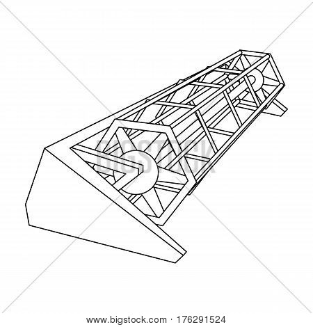 Metal attachment to the tractor for the harvest. Modern agricultural machinery.Agricultural Machinery single icon in outline style vector symbol stock web illustration.