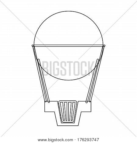 Aerostat. Pink big balloon for flight and travel.Amusement park single icon in outline style vector symbol stock web illustration.