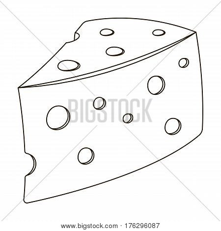 Rustic homemade cheese. Homemade homemade dairy product.Farm and gardening single icon in outline style vector symbol stock web illustration.