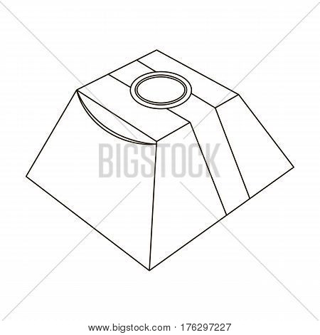 Gift in the form of a pyramid. Gift wrap on holiday.Gifts and Certificates single icon in outline style vector symbol stock web illustration.