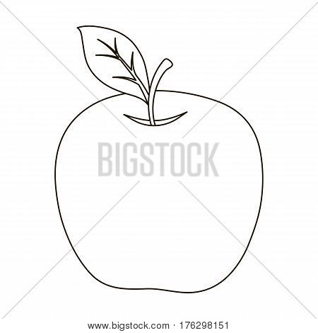 Red Apple. Snack at school. Lunch at the break.School And Education single icon in outline style vector symbol stock web illustration.
