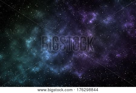 Abstract space background with stars an infinite universe. Fantasy color background for creative design.