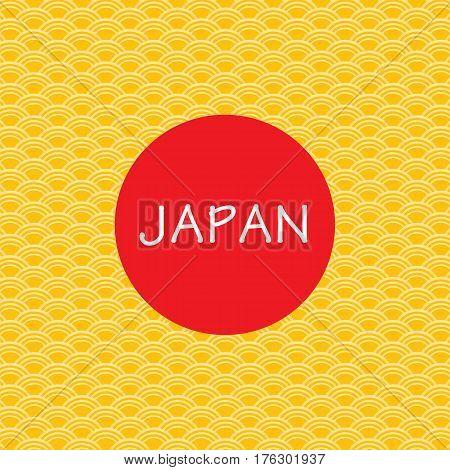 Gold Japanese background. Gold modal of Japanese background.