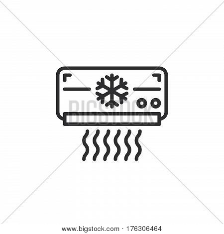Air Conditioner line icon outline vector sign linear pictogram isolated on white. AC unit symbol logo illustration