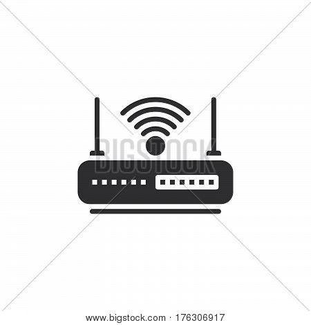 WIFI router icon vector filled flat sign solid pictogram isolated on white. Internet hotspot symbol logo illustration