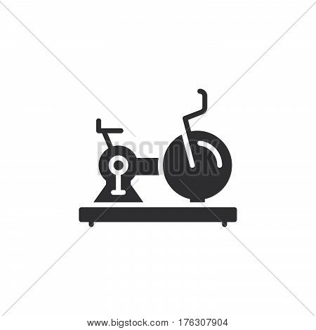 Exercise Stationary Bike icon vector filled flat sign solid pictogram isolated on white. Gym symbol logo illustration