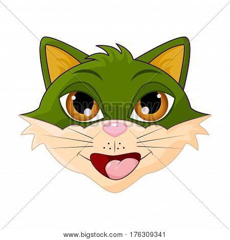 Cat Head Cartoon Vector Symbol Icon Design.
