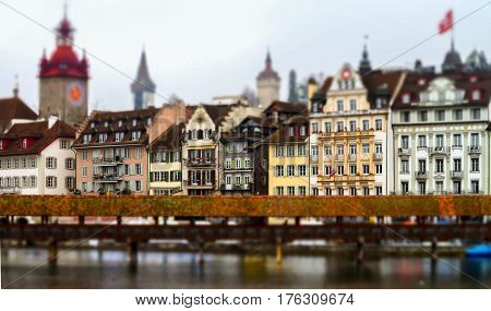 Editorial: 18Th February 2017: Luzern, Switzerland. Cityscape.