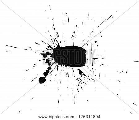 Grunge blot, ink stain paint. Vector illustration