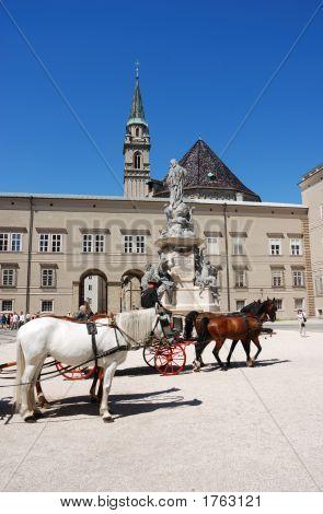 Horse Carriage In Salzburg