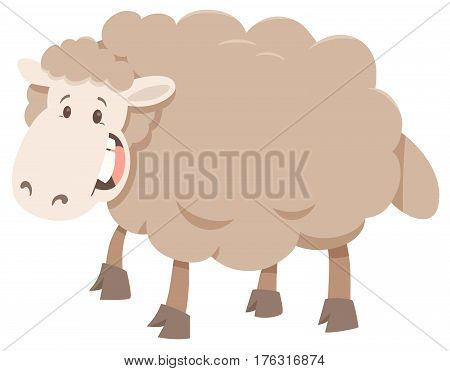 Cartoon Sheep Animal Character