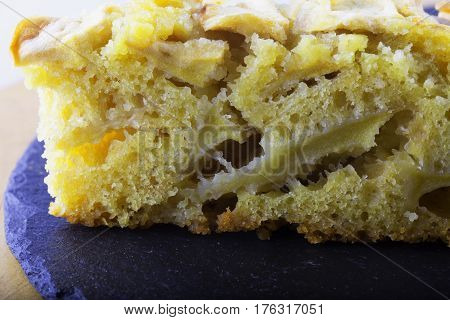 Apple Pie Slice In Close Up