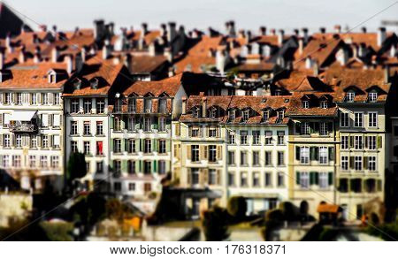 Old Center Of Bern Cityscape View