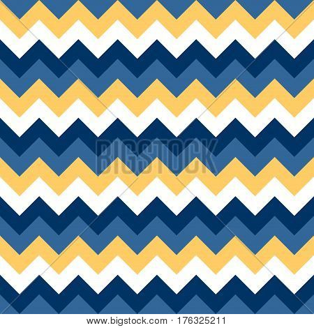 Chevron pattern seamless vector arrows geometric design colorful blue naval yellow white