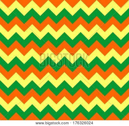 Chevron pattern seamless vector arrows geometric design colorful green orange yellow
