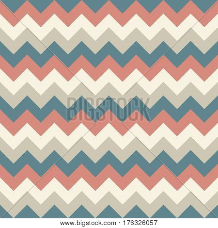 Chevron pattern seamless vector arrows geometric design colorful pastel beige grey red naval blue