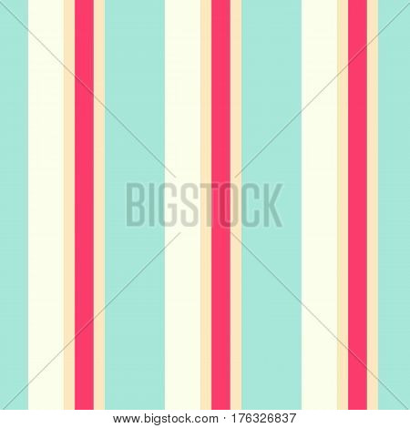 Striped seamless pattern. Colorful line vector background. Pastel tones of vertical stripes.