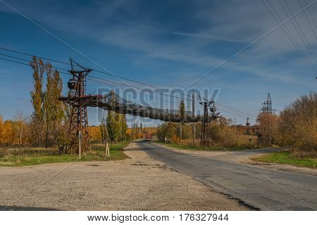 Ropeway soda plant near the city of Lisichansk in Donetsk region of Ukraine. October 2007