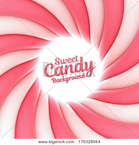 Sweet candy background with place for your content. Vector illustration Eps 10