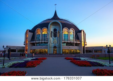 Tula, Russia - August 6, 2016: Museum of weapons in Tula. Night photography