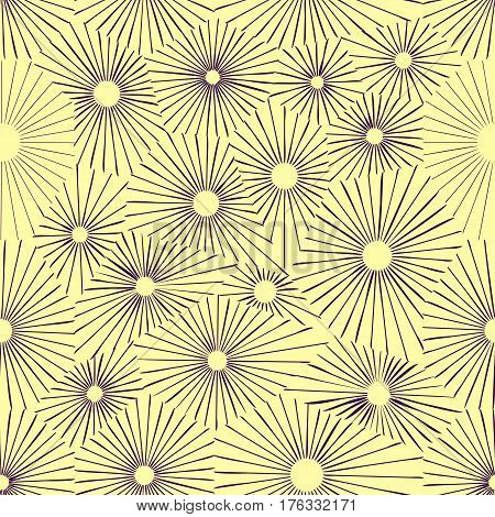 Seamless one color flower pattern. Simple monocolor repeatable background. Flourish, blossoms pattern.
