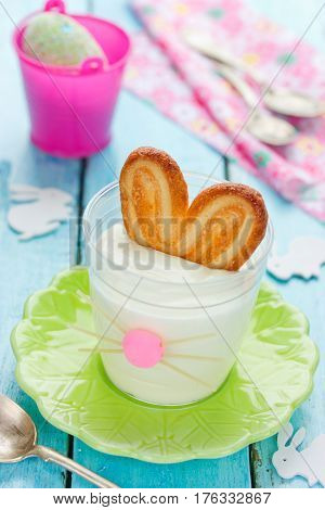 Bunny ears mousse for Easter cute idea for an Easter brunch