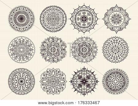Twelve Circular Ornaments