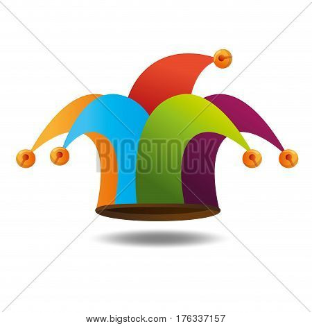 harlequin hat funny icon vector illustration design