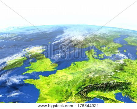 Western Europe On Planet Earth