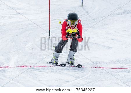 Pedro Marim During The Ski National Championships