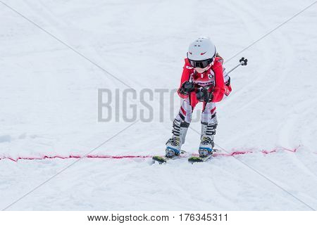 Barbara Silva During The Ski National Championships