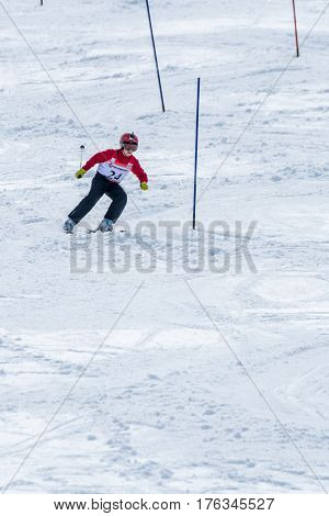 Dinis Lagem During The Ski National Championships
