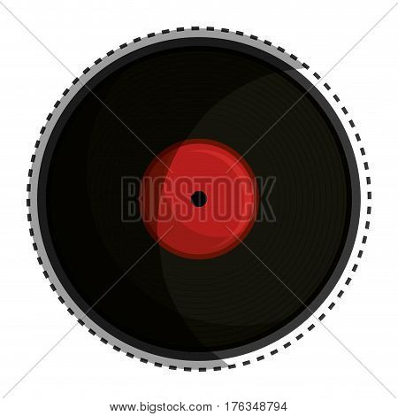long play disk icon vector illustration design