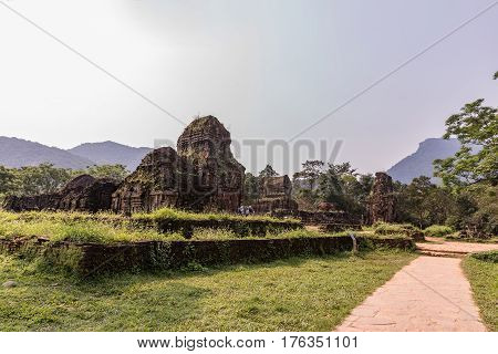 My Son Sanctuary in Central Vietnam Temple ruin of the My Son complex.