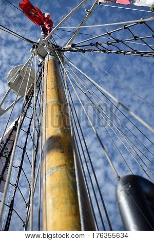 Tall Ships, Erie, PA mast, nautical ropes and ladder antique fleet, historic War of 1812