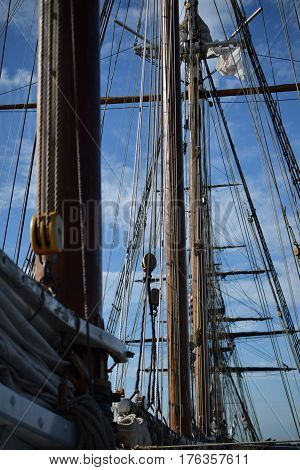 Tall Ships, Erie PA , mast boom and sails, antique fleet,  Historic War of 1812