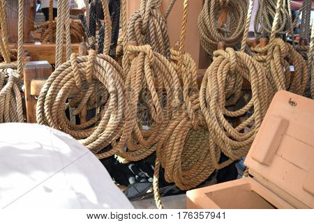 tall ships erie pa, mooring ropes and anchor, antique vessel
