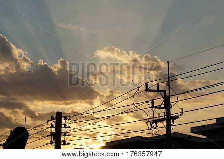 abtract of light shade in city for background used