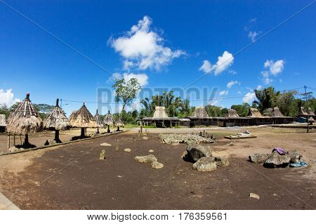 Indigenous traditional village Wogo, Flores Island, Indonesia
