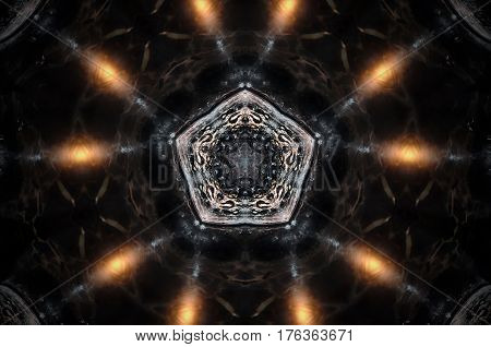 Abstract Candle Mandala