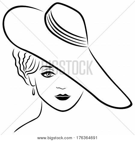 Young Lady In Hat