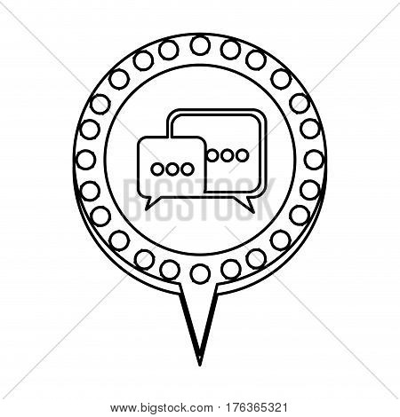 figure chat bubbles message icon, vector illustration design