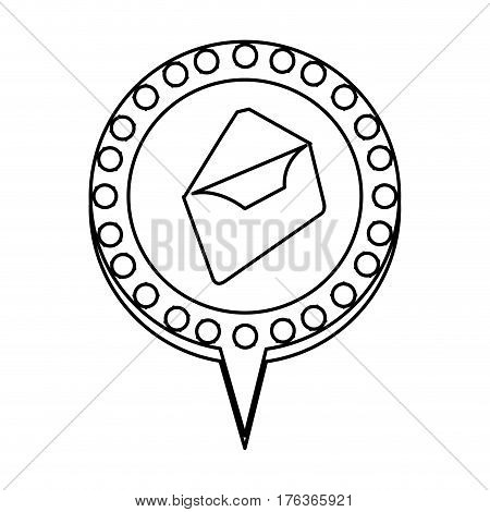 figure chat bubble with letter open, inside, vector illustration design