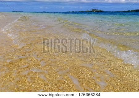 Clear Water At Pangaimotu Island Near Tongatapu Island In Tonga