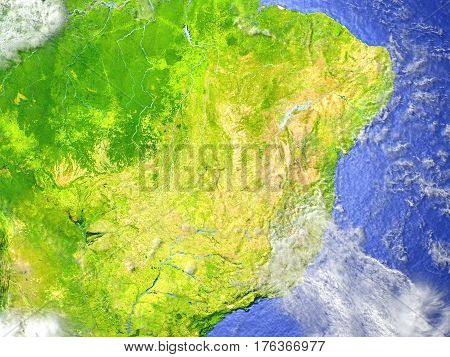 West Of South America On Realistic Model Of Earth