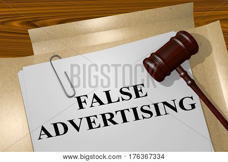 False Advertising Concept